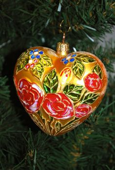 christopher radko ornaments | Christopher Radko Heart Ornament by NewPhind on Etsy