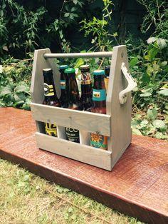 Beer Caddy-wedding parties groomsmen beer tote Wooden Cooler, Diy Cooler, Beer Caddy, Wedding Parties, Small Towns, Groomsmen, Etsy Seller, Create, Party