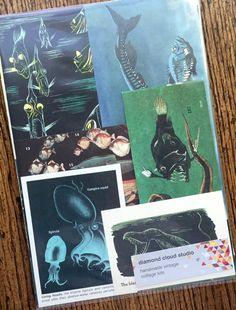 Monsters of the Deep Dark Sea Vintage Ocean by diamondcloudstudio