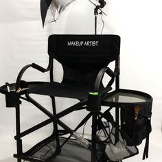 "As Seen On TV The Original Tuscany Pro Tall Makeup Artist Portable Chair w/ Light System (31"" Seat Height) 