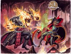 Dormammu and Dr Strange battling it out