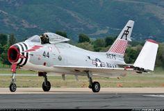 A North American Aviation FJ-4B FURY.(precursor to the Sabre) -- carrier-borne