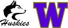 washington huskies stencil | University of Washington logos SVG