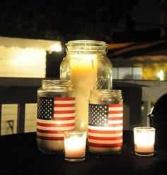 These DIY lanterns are perfect for the 4th of July!