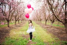 birthday photo shoot, celebrations, happy birthday, balloons, orchard, tutu