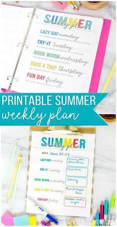 Free printable weekl