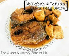 Milkfish & Tofu in Black Bean Sauce Seafood Dishes, Fish And Seafood, Ube Cupcake Recipe, Bangus Recipe, Filipino Recipes, Filipino Food, Filipino Desserts, Steamed Rice Cake, Rice Cakes