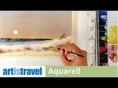 Ganz einfach malen lernen 5   Strandlandschaft - YouTube