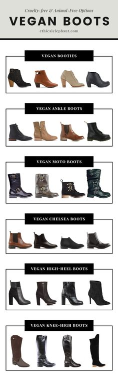 Guide to Vegan Boot Styles - Ankle, Chelsea, Knee-High, Moto Boots & more!