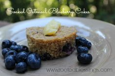Soaked Oatmeal Blueberry Cakes {Gluten Free}