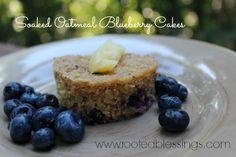 Soaked Oatmeal Blueberry Muffins #glutenfree