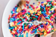 Engagement session ideas: hang out at your favorite date night spot - like frozen yogurt!  #froyo #engagement #unique #ideas #photoshoot #engaged #engagementring #photography #locations #inspiration
