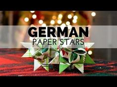 Instructions for paper German/Moravian/Scandinavian Christmas stars. Very clear, detailed instructions with every step show -- it's the best tutorial I've found for this craft.