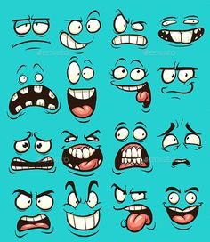 Funny cartoon faces with different expressions. Vector clip art illustration with simple gradients. Each on a separate layer. Funny cartoon faces with different expressions. Vector clip art illustration with simple gradients. Each on a separate layer. Cartoon Faces Expressions, Funny Cartoon Faces, Cartoon Expression, Drawing Cartoon Faces, Drawing Expressions, Funny Cartoons, Tired Cartoon, Easy Cartoon, Cartoon Clip