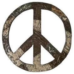 Tin Ceiling Peace Sign, $112, now featured on Fab.