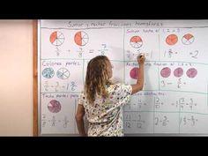 Sumar y restar fracciones homogéneas - YouTube