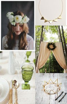 green and gold inspiration. wedding.