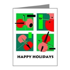 Note Cards (Pk of Happy Holidays String Quartet 10 Note Cards by SwimMuse Art and Gifts - CafePress Music Greeting Cards, String Quartet, Note Cards, Happy Holidays, Notes, Happy Holi, Report Cards, Index Cards, Notebook