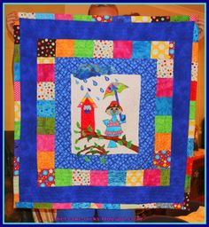 It started life as a mug rug! It's a small tablecloth. My Sewing Room, Diet Coke, Quilts, Blanket, Rugs, How To Make, Life, Scrappy Quilts, Farmhouse Rugs