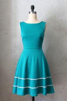 Coquette Dress in Jade