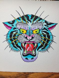 Traditional Tiger Tattoo | Traditional Tiger Tattoo Strength / Endurance / Passion