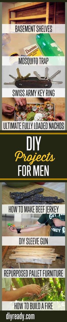 How To Make Cool DIY Projects For Men | Awesome DIY Tutorials For Dudes By DIY Ready. http://diyready.com/diy-projects-for-men/