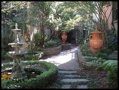 Love peeping through fences and gates at backyard gardens! Oh Savannah!