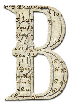 Alfabeto papel antiguo...B