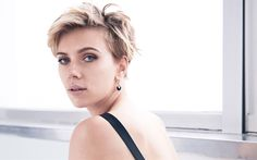 Download wallpapers 4k, Scarlett Johansson, beauty, american actress, Cosmopolitan