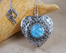 White quartz music box locket music box locket music box pendant aqua blue glass opal silver music box locket photo locket music box locket aloadofball