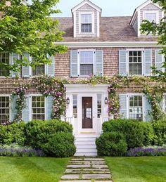 Nantucket house in bloom.