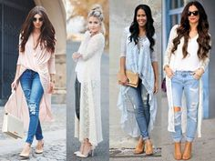 white lace cardigan outfit, How to wear lace outfit http://www ...
