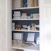 Sarah Richardson Design - dens/libraries/offices - Para Paints - Vista - closet office, office in closet, closet desk, desk in closet, close...