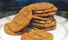 'Tis the season to fill your house with the smell of ginger and molasses and this recipe for chewy gingersnap cookies is just the way to do it. Chewy Ginger Cookies, Ginger Snap Cookies, Yummy Cookies, My Recipes, Baking Recipes, Favorite Recipes, Delicious Cookie Recipes, Dessert Recipes, Desert Recipes