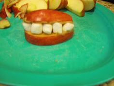apple smiles for 'A' lesson