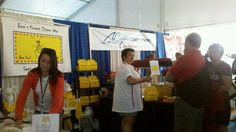 """We are Selling up a strom at the 2012 Newport International Boat Show!  Day 4 at 9:am people already line up to hear about, What The Bee can do for YOU!"""""""