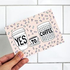 Yes To Coffee Card