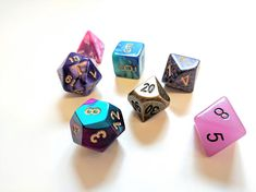 Polyhedral RPG Dice Set Phantasmal Force Dungeons and