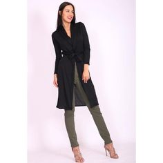 Buy Structured Texture Belted Jacket from Josie Natori at The Natori Company Mature Women Fashion, Womens Fashion, Dramatic Classic, Belt Tying, Black Cardigan, Jacket Style, Simply Beautiful, Double Breasted, Knitwear