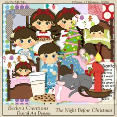 The Night Before Christmas Scrapkit - by Beckys Creations , cudigitals.com, cu, commercial, scrap, scrapbook, digital, graphics,
