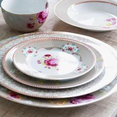 """They're described as, """"Happy products for happy people."""" Popular European designer Pip Studio's charming dinnerware adds fun, color and freshness to your table. Shop the entire collection online at www.heritagelace.com."""