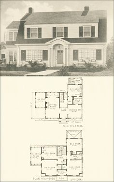 Dutch Colonial Revival House Plans Luxury Dutch Colonial Revival House Plan No 3028 Free House Plans, Beach House Plans, House Floor Plans, Dutch Colonial Homes, Colonial House Plans, American Colonial Architecture, Vintage House Plans, Vintage Homes, House Plans With Photos