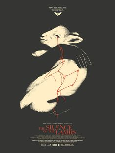 """Silence of the Lambs movie poster by David Moscati, available for sale by Spoke Art Gallery, produced to commemorate a screening of the film at the Roxie. posters David Moscati - """"The Silence of the Lambs"""" Horror Movie Posters, Cinema Posters, Horror Films, Gig Poster, Movie Poster Art, Movie Posters For Sale, Movie Synopsis, Spoke Art, Plakat Design"""