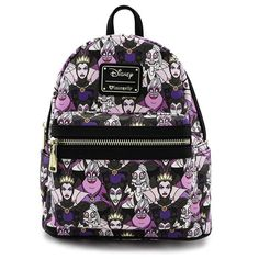 46117d487ae loungefly disney female villains evil queen vegan purple mini backpack  purse evil-queen malificent shoulder