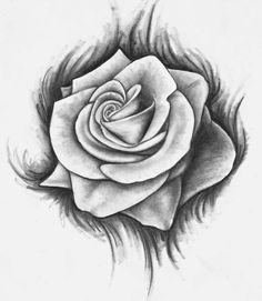 e9399f408 Rose Tattoo Stencil, Rose Drawing Tattoo, Rose Stencil, Tattoo Drawings,  Tattoo Pics