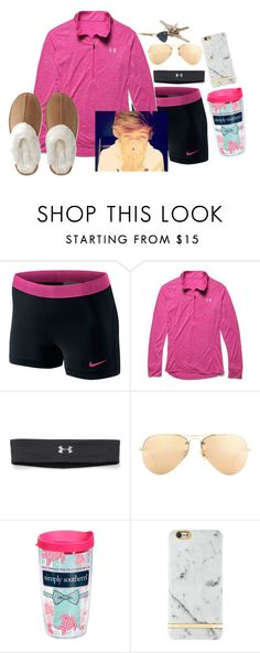 """Hangin with bae........ If I had one"" by preppygirl13 ❤ liked on Polyvore featuring NIKE, Under Armour, Ray-Ban, Tervis, Aéropostale, women's clothing, women, female, woman and misses"