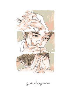 Jaehyun Nct, Sketchbook Inspiration, Kpop Fanart, Cartoon Pics, Nct Dream, Cute Art, Anime Guys, Art Inspo, Illustration Art