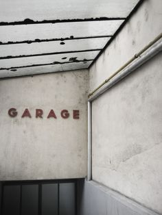 Garage - letters on the wall