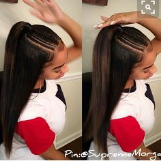 Inexpensive Black Girls Hairstyles Ideas - Hiền Thu - Inexpensive Black Girls Hairstyles Ideas Marvelous Tips: Messy Hairstyles Bohemian brunette hairstyles straight. Baddie Hairstyles, Black Girls Hairstyles, Ponytail Hairstyles, Straight Hairstyles, African Hairstyles, Brunette Hairstyles, Hairstyles 2018, Birthday Hairstyles, Gorgeous Hairstyles