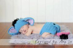 Eyore Crochet Diaper Set